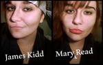 Makeup test: James Kidd/Mary Read AC4 by My13Memories