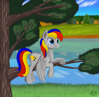 In the tranquility of nature by RainbowJET