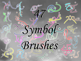 47 Symbol Brushes by Kenzeryuu