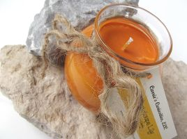 Cantaloupe Lily Soy Candle by curiouscarrie