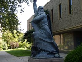 Library Statue by ChibiLavos