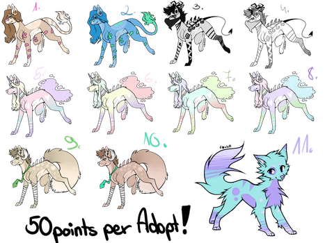 Cheap ADOPTS 50points! [OPEN] 7/11 by TAEadopts