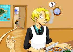 Sanji Cooking by DairuAnubis