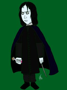 Snape Variant1st Edition Lego Minifigure Color by jcastick