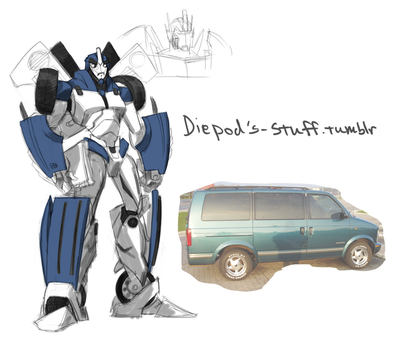 Diepod as an Autobot by HIIVolt-07