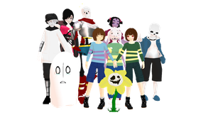 WELCOME TO UNDERTALE! Model DLs by Allena-Frost-Walker