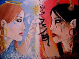good and evil painting by Angel2489