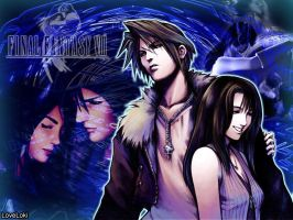Squall and Rinoa Blue by LoveLoki