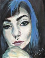 Just another acrylic portrait by AndrewLaFish-Arts