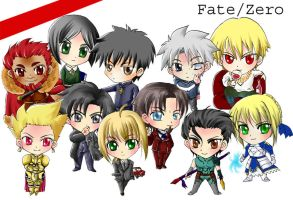 Fate/Zero Chibi by koalanui