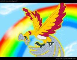 the ho-oh of spectrum city by SilverTalon-articuno
