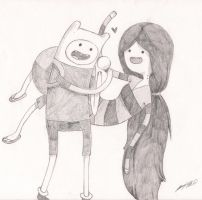 Marceline and Finn by LaceKnee