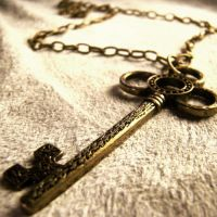 Antique Skeleton Key Necklace by Om-Society