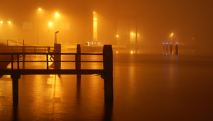 Harbour at Night by twinkels