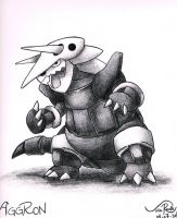 Aggron by johnrenelle