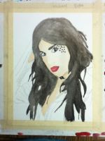 Kat Von D (watercolor, not finished) by Redax3