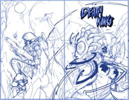 Sketch: Death King Issue 2 cover WIP by endshark