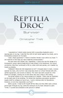 Reptilia Droc: Survivor (PDF) by chris-illustrator
