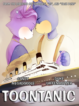 Toontanic Poster by Papercut-Cranes