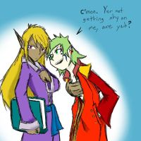 Menna and Shianne by Dreamaniacal
