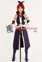Fairy Tail Erza Scarlet Purple Cosplay Costume by miccostumes