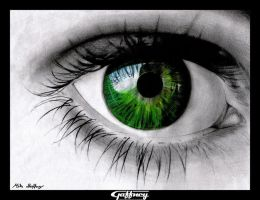 Colored Pencil Green Eye by theGaffney