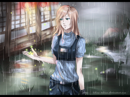 Under the rain~ by Eternal--Melancholy