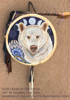 Spirit Bear Moon Drum by ssantara