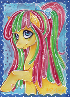 COMMISSION: ACEO nr. 27 Pony Sunshine Sherbet by Primarella
