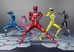Power Rangers 2017 movie by CAPTAIN-GAMMA