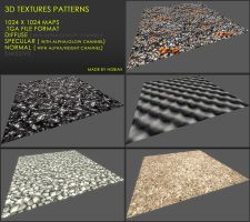 Free 3D textures pack 23 by Nobiax