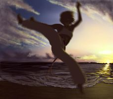 Capoeira Girl by Maderath