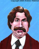 Anchorman Ronald Burgundy by waldron1