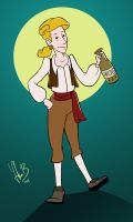 Guybrush Threepwood, pirate by asa-bryndis