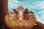 Winged Tiger Cubs by DolphyDolphiana