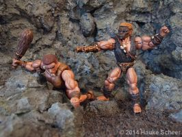 Figthing 3d printed Cavemen B by hauke3000