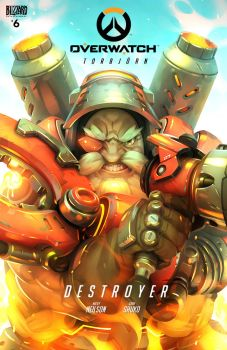 Overwatch Torbjorn comic cover by GrayShuko