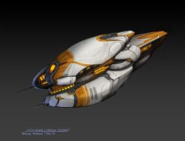 Gauss Frigate by zombat