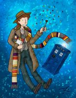 The 4th Doctor - Tom Baker by Katy133
