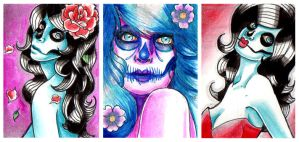 ACEO Cards 1 2 and 3 by misscarissarose