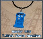 Doctor Who - TARDIS Charm Necklace - Handmade by YellerCrakka