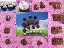 Chocolate Charms by Shelby-JoJewelry