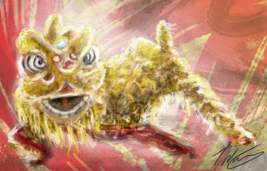 lion Dance by ruffSketch