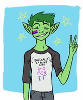 beast boy more like bi boy by nakdoof