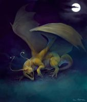 Wild Dragonite Appeared by KatePfeilschiefter