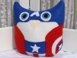 Owl Plushie Inspired by Captain America! by sylvialovespink