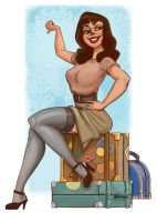 Bettie Page-ish Pin-Up by scotlanddbarnes