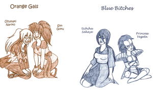 GBNaru+DBZ: O-Gals + B-Bitches by kiotsukatanna