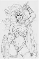 Sketch Wonder Woman Marcio Abreu by MARCIOABREU7