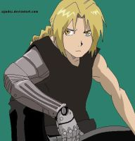 Edward Elric-Ms paint by AJjudez